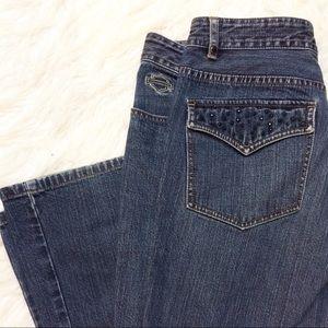 Vintage Harley Davidson jeans w rhinestones